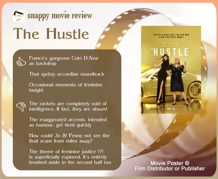The Hustle Movie Review: 3 Thumbs-Up and 4 Thumbs-Down