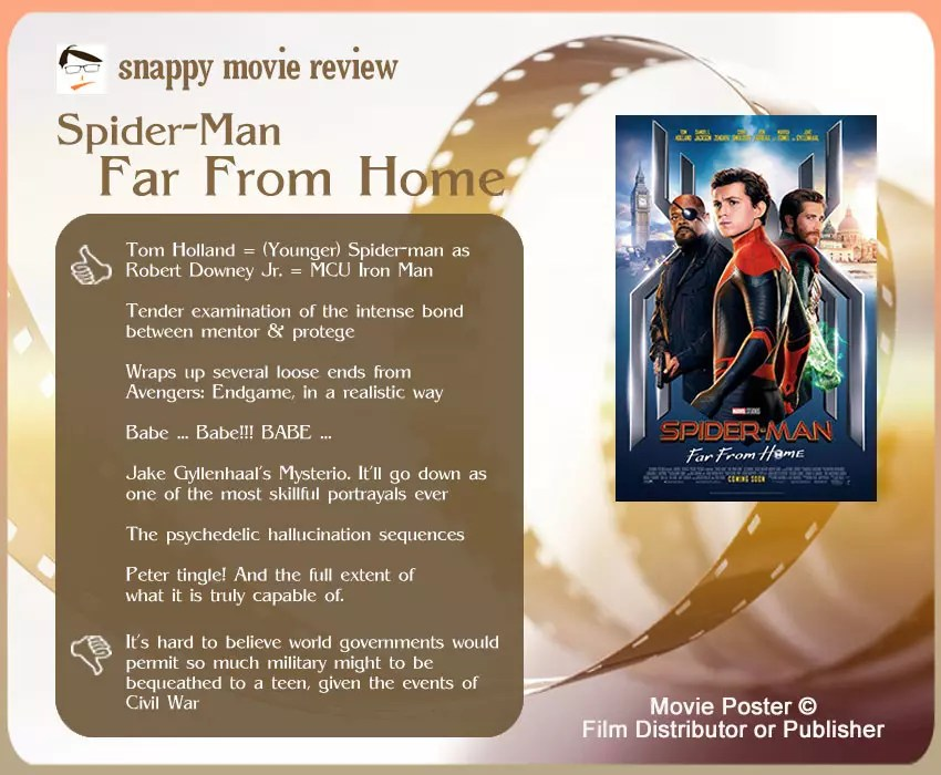 Spider-Man: Far From Home Review: 7 thumbs-up and 1 thumbs-down.
