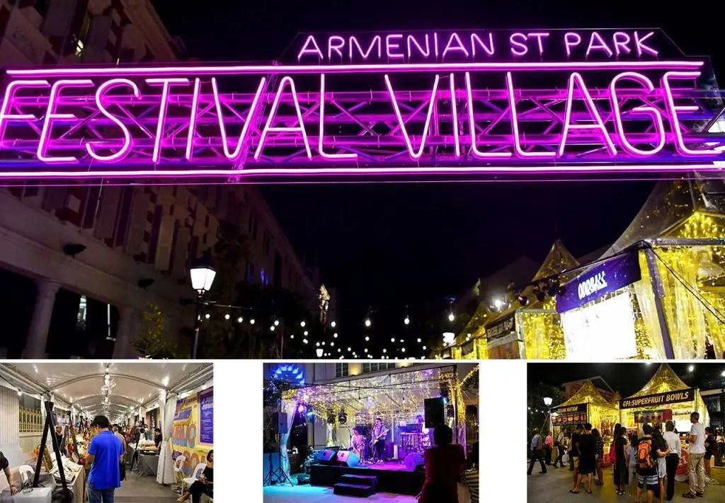 Singapore Night Festival 2019 Armenian Street Park Festival Village.
