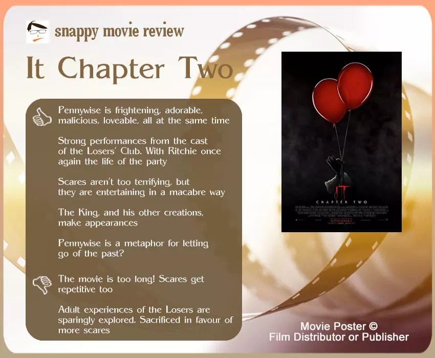 It Chapter Two Review: 5 thumbs-up and 2 thumbs-down.