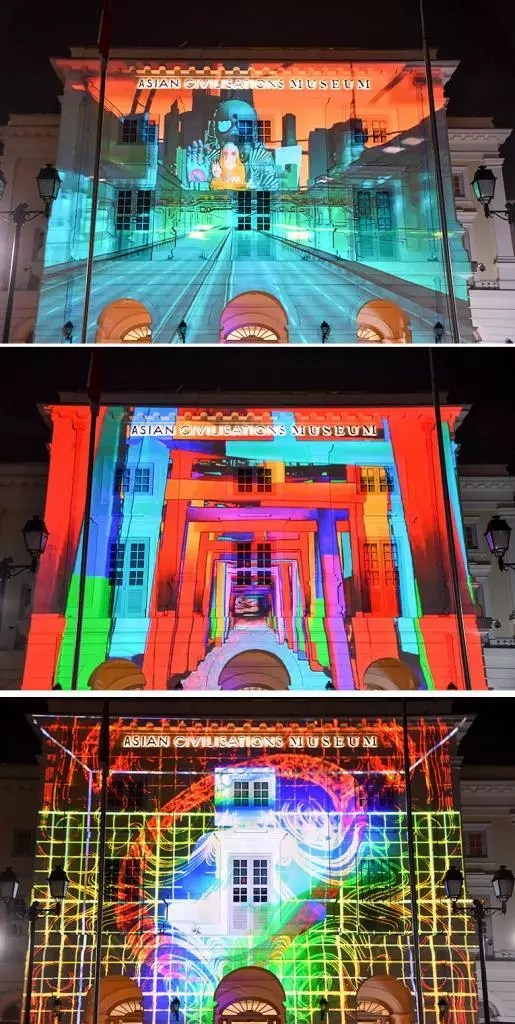 Artskin Projection at Asian Civilisations Museum.