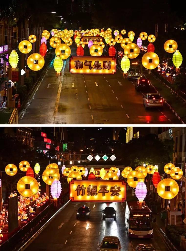 Singapore Chinatown Chinese New Year 2020 Decorations.
