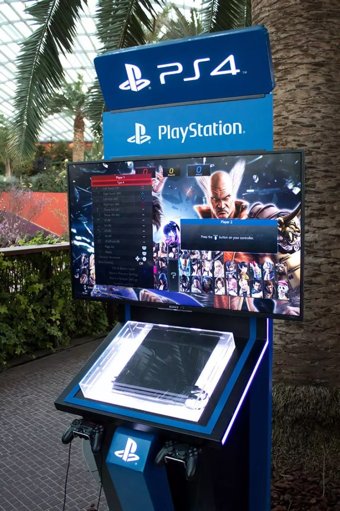 PlayStation 4 at Gardens by the Bay Flower Dome.