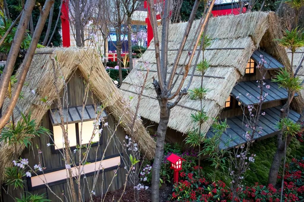 Gassho Farmhouses at Sakura Matsuri 2020.