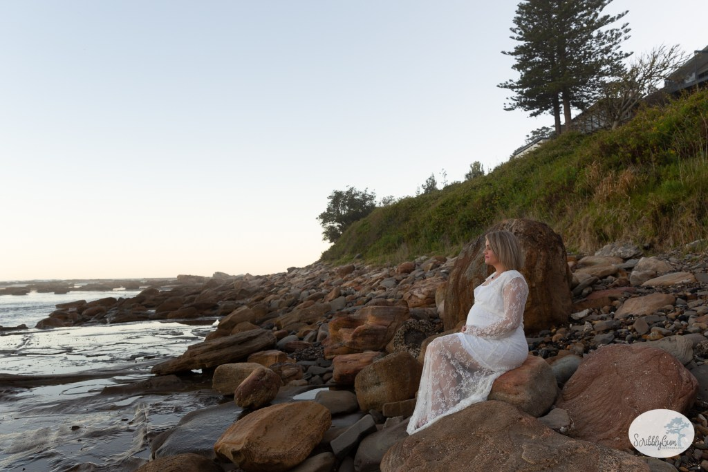 Beach Maternity Photoshoot Rocks Outdoor Pregnancy Maternity Photographer