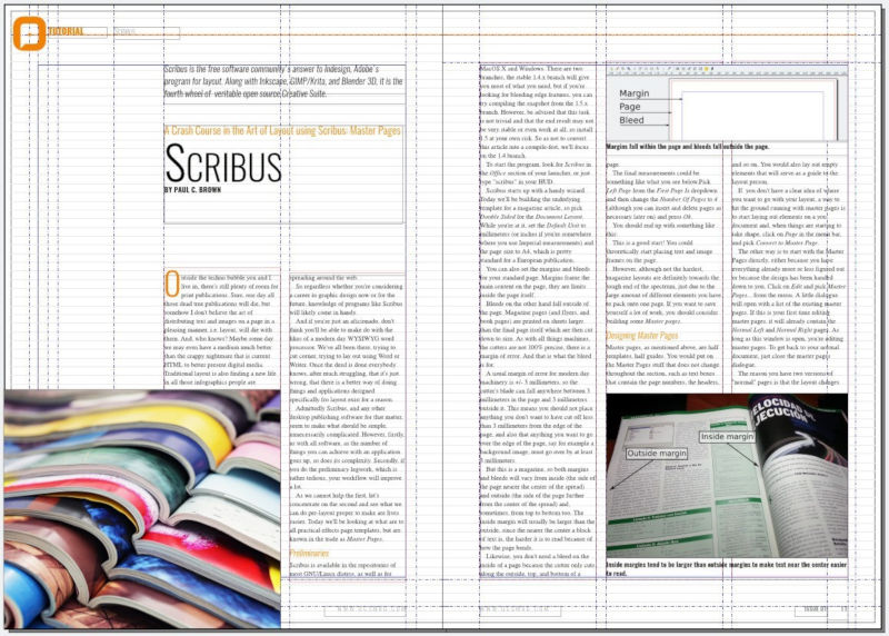 édition de texte avec scribus