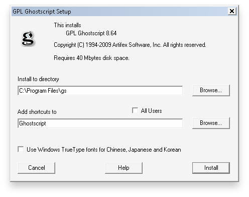 WINDOWS TÉLÉCHARGER GHOSTSCRIPT