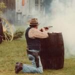 fusillade dans un décor de western