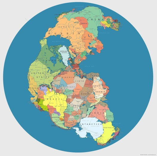 La carte de la Pangée