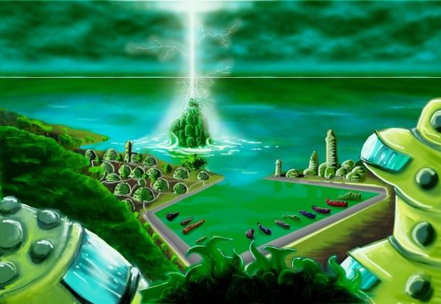 Ville-eclair pour le jeu de rôle Mana Earth