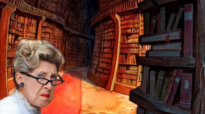 Une vieille bibliothécaire