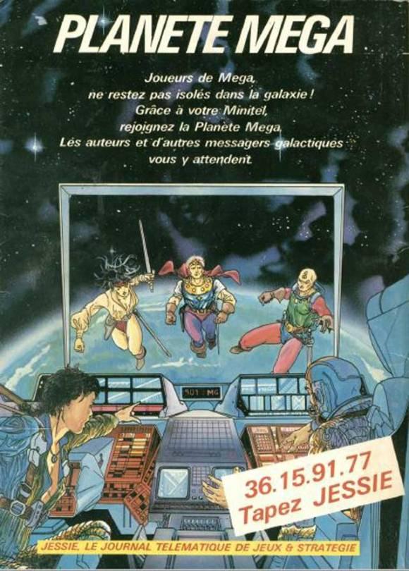 Planète Mega, le suivi de Mega 2 sur  minitel !