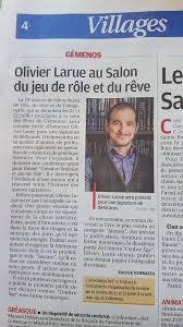 Olivier Larue l'auteur de la Saga Ombre Âge