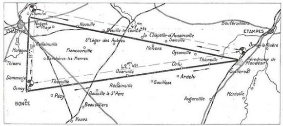 circuit partant de la terrasse du château de Saint-Germain-en-Laye et passant par Senlis, Meaux et Melun.