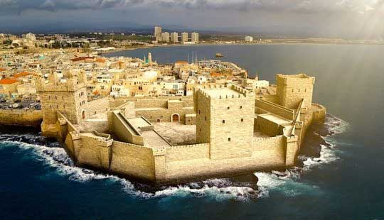Reconstitution 3D de l'ancienne forteresse d'Acre, en Israël. Crédits : National Geographic