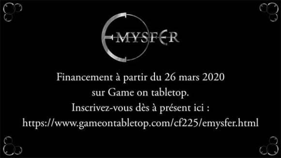 Emysfer sur Game On Tabletop à partir du 26 mars 2020.