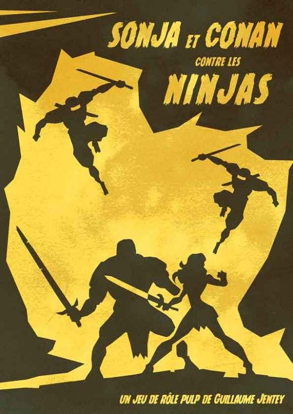 Couverture de Sonja et Conan contre les Ninjas