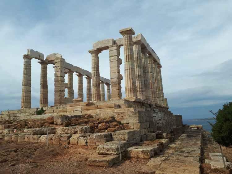 ancient historic stone construction of acropolis