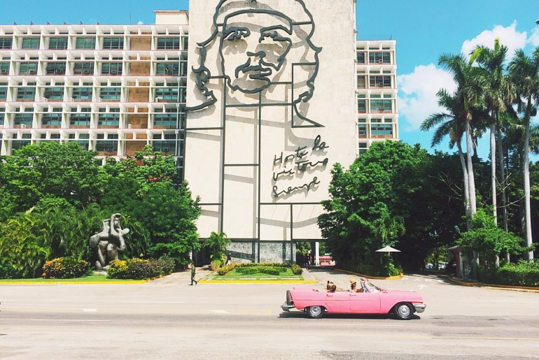 Things to know before traveling to Cuba - Car at Revolution Plaza