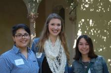 2014-2015 Scripps College CfH coordinators (left to right) Alex Washburn, Sara Eliason, and Reyna McKinnon