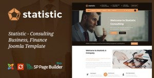 Statistic - Business Consulting and Professional Services Joomla Theme