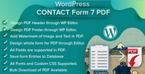 WordPress Contact Form 7 PDF & Database
