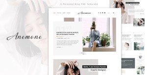 Anemone - A Personal Blog PSD Template