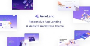 App Landing AeroLand - App Landing Software Website WordPress Theme