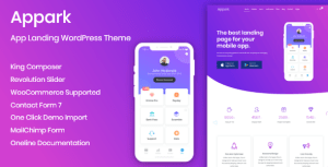 App Landing Appark – App Landing WordPress Theme