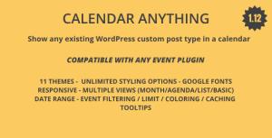 Calendrier anyting | Afficher n'importe quel type de poste personnalisé WordPress existant dans un calendrier