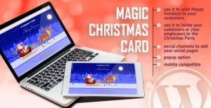 Carte de Noël magique avec animation-plugin WordPress
