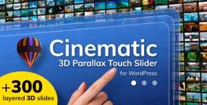 Cinématique 3D Parallax Touch Slider pour WordPress
