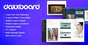 Daxxboard-créateur de tableau de bord personnalisé WordPress