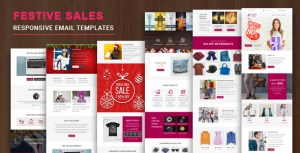 Festive Sales - Multipurpose Responsive Email Template with Online StampReady Builder & Mailchimp E
