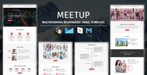 MEETUP - Events Responsive Email Template With Mailchimp Access