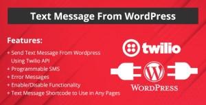 Message texte de WordPress site Web