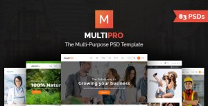 MultiPro | Multi-Purpose PSD Template