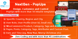 NextGen WordPress PopUps - Create, Customize and Control PopUps