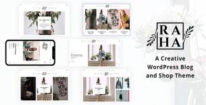 Raha - A Creative WordPress Blog & Shop Theme