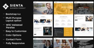 Sienta - Business Consulting and Corporate WP Theme