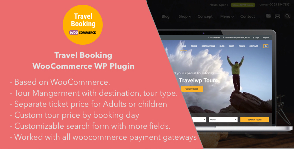 Travel Booking - Travel Booking WooCommerce WordPress Plugin