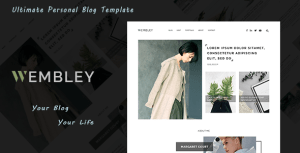Wembley - Ultimate Personal Blog PSD Template
