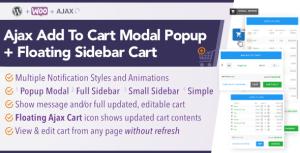 WooCommerce AJAX Add To Cart + Floating Cart | Popup Modal + Sidebar
