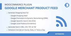 WooCommerce Google Merchant produit nourrir Plugin - DRM, DSA & plus