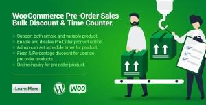 WooCommerce ventes de pré-commande, rabais en vrac & compteur temps