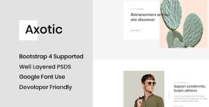 Axotic - Modern Blog PSD Template