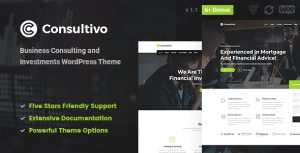 Consultivo - Business Consulting and Investments WordPress Theme
