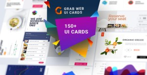 Grab-A Multipurpose Web UI Cards