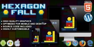 Hexagon Fall - HTML5 Skill Game