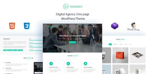 Keeway - Digital Agency One page WordPress Theme
